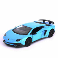 1:36 Lamborghini Aventador LP750-4 SV Model Car Diecast Toy Vehicle Gift Blue