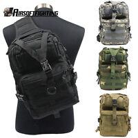 Molle Outdoor Rucksack Tactical Messenger Assault Sling Shoulder Bag Backpack