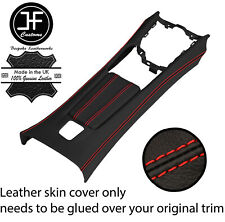 RED STITCH CENTRE CONSOLE + ARMREST LEATHER COVERS FOR FIAT 124 SPIDER 16-20