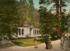 Böhmen. Marienbad. Waldquelle. PZ vintage photochromie, photochrom photochromi