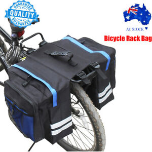 Waterproof Bicycle Bag Riding Bike Rear Back Seat Carrier Basket Rack Pannier AU