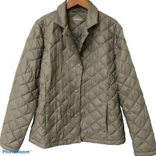 LL Bean Quilted Jacket Sz S P Fall Hiking Equestrian Puffer