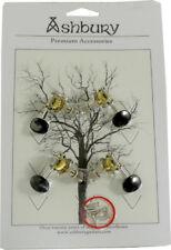 Ashbury UKULELE MACHINE HEADS, open geared tuners, black buttons. At Hobgoblin