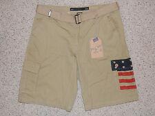 New Mens ROK Size 38 Khaki Cotton Belt Shorts RK1208
