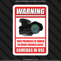 4 pack Security Camera Sticker Surveillance System CCTV Warning Video Decal