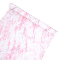 Pink Self Adhesive Marble Wallpaper Kitchen Countertop Vinyl Film Wall Stickers