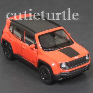 "4.5"" Welly 2017 Jeep Renegade Trailhawk  Diecast Toy Car 43736D Orange"