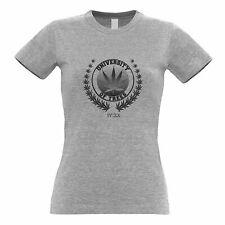 Stoner Womens TShirt University of Trees IV:XX 420 Logo Weed Culture Marijuana
