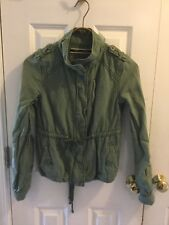 Daughters of the Liberation Anthropologie Green lightweight jacket zip up sz.2