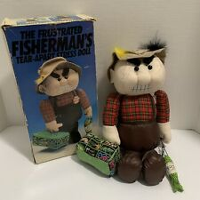 """Vintage 1990 The Frustrated Fisherman Tear-Apart Stress Doll 13"""" Novelty in Box!"""