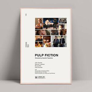 Pulp Fiction Poster, Mia Wallace, Kill Bill, Reservoir Dogs, Django Unchained