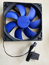 Raidmax 120mm Quiet Blue Black 3-Pin 4-Pin Molex Desktop Computer PC Case Fan