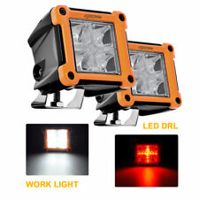 "2pcs 3"" inch 20W Led Pod Lights Work Bar Lamp w/ Red DRL Lumen Philips Chips"