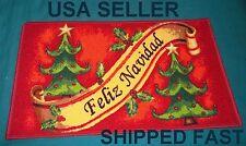 "PUERTO RICO Flag FELIZ NAVIDAD Three Kings Christmas Door Mat Spanish 15"" x 23""D"