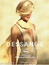 PUBLICITE ADVERTISING 096  2012  Dessange  coiffeur Festival de Cannes