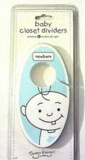 NEW Set of 6  BLUE  Baby  Boy Toddler Hanging Closet Dividers by Sugar Booger