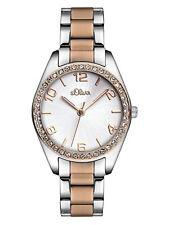 s.Oliver Armbanduhren aus Edelstahl mit arabischen Ziffern