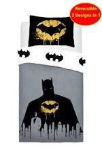 New Official Batman Single Duvet Quilt Cover Bedding Set Kids Boys DC Comics