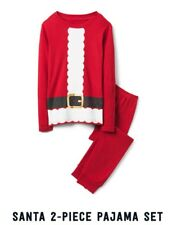 Size 12-18m  Crazy 8 Christmas Pajamas Shirt Pants Boys Santa Claus