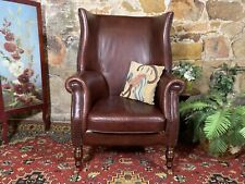 Superb Chesterfield Leather Wingback Lounge Library Chair~Armchair~Peter Martin