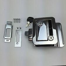 Set RV Paddle Entry Door Lock Latch Handle Knob Deadbolt NEW Camper Trailer Kit