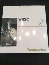 WESC TAMBOURINE PREMIUM in orecchio Cuffie Bianco GOLDEN IPHONE NUOVO di zecca in scatola