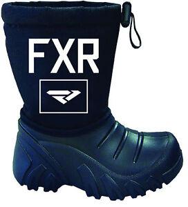 FXR Youth Kids SHREDDER WATERPROOF Black SNOW BOOTS  -  Size  10 / 11  -  NEW