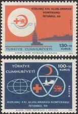 Turkey 1969 Red Cross Conference/Crescent/Medical/Health/Welfare 2v set (n27759)