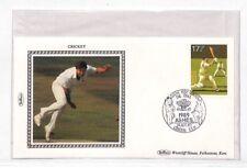 Z79 1989 Go * cendres Test Oval * Cricket Benham Couverture en soie London ovale {samwells}
