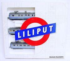 """Liliput HO 1:87 VT 06 DB """"TAUBENBLAU"""" 1950 DIESEL MULTIPLE UNIT SET MIB RARE!"""