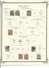Great Britain Collection 1840-1903 on 3 Scott Vintage Pages, Officials