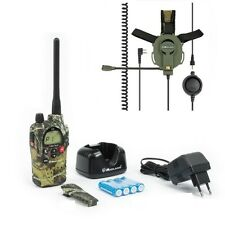 Pack airsoft midland G9 camouflage couleur pmr/lpd 5W + nœud tactical casque paintball