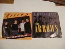 The Arrows/ Lot of two 45s/ Picture sleeves/ Canada/ Meet Me In The Middle