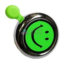 Widek Florescent Bell with Fittings for Bike Cycle Green Smiley