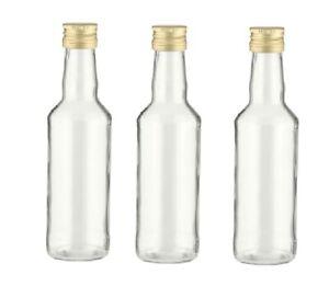leere Glasflaschen 200 ml Likörflasche Schnapsflasche 0,2 liter Saft-flasche Neu