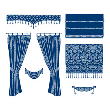 Tattered Lace CURTAINS & BLINDS Craft Cutting Die Set - 443714 - FREE UK P&P