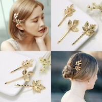 Accessories Bobby Pin Metal Bride Hairpins Leaf Shape Women Hair Clip Barrettes