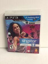 Singstar + Dance (Sony PlayStation 3, 2010) CIB