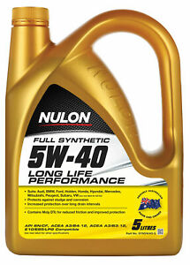 Nulon Full Synthetic Long Life Engine Oil 5W-40 5L SYN5W40-5 fits Kia Mentor ...