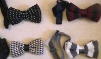 Knitted wool bow tie Vintage style neck bowtie, NEW, Stylish fashion wedding etc