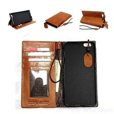 Genuine Italy Real Leather Case For Iphone 6 Plus + Book Wallet Handmade