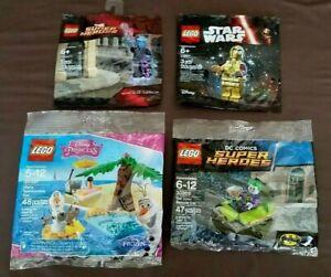 Lego Polybag Lot! Electro Joker Bumper Car C3PO Olaf's Summertime Brand New!!