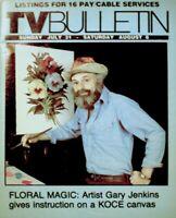 TV Guide 1984 Gary Jenkins Artist Regional TV Bulletin OC Vintage VG/EX COA