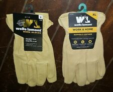 Wells Lamont Work & Home Durable Leather Gloves! Choose From ☆2☆ Sizes!