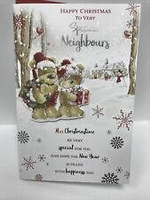 To Very Special Neighbours Christmas Greeting Card