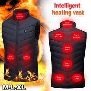 9 Areas Heated Vest Warm Body Electric USB Men Women Heating Coat Vest Jacket