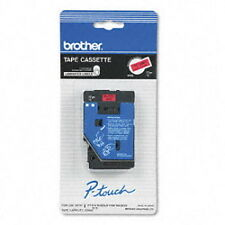 "Brother 1/2"" (12mm) Black on Red P-touch Tape for PT20, PT-20 Label Maker"