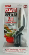 NEW SEALED Clever Cutter 2-in-1 Knife & Cutting Board Scissors As Seen On TV