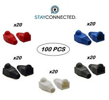 100 x RJ45 Cat6 Cat7 Network Ethernet Cable End Connectors Protector Cover Boot