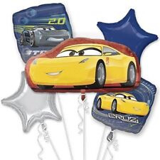 Disney Cars 3 Cruz Happy Birthday Party Favor 5 Foil Balloons Bouquet